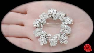 1960s Bulgari Diamond Brooch