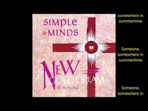 Simple Minds - Someone Somewhere (in Summertime) (Lyrics 1982)