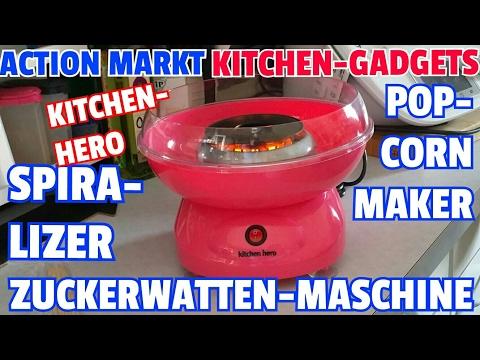 ✔ACTION MARKT KITCHEN-GADGETS: Kitchenhero Zuckerwattenmaschine / Popcornmaker / Spiralizer