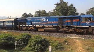 """[IRFCA] Blue Beauty WDP4 """"BAAZ"""" with North East Superfast Express!!"""