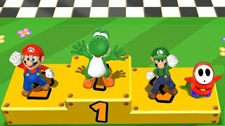 Mario Party 9 Step It Up - Yoshi vs Mario vs Luigi vs Shy Guy Master Difficulty  Cartoons Mee