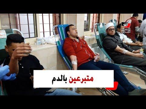 زحام بـ«الهلال الأحمر» للتبرع بالدم لمصابي «محطة بمصر»