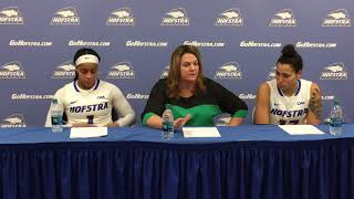 WBB: Hofstra Postgame Press Conference Vs. Elon (2/16/18)