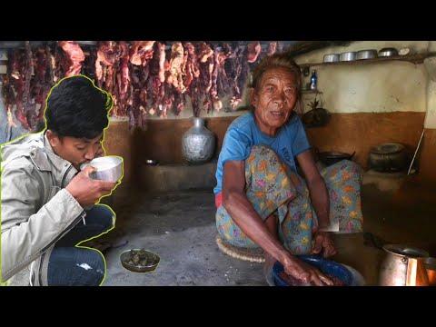 village poor people making and eating    village cooking np