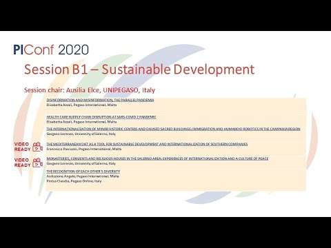 Session B1- Sustainable Development