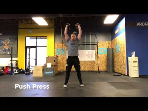 Kettlebell Thruster Progression