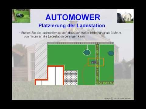 Automower - Installation mit Platzierung der Ladestation