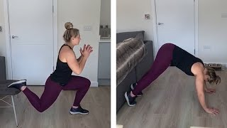 video: Vicky Fleetwood's home workout guide: Keep in shape with a circuit using a chair or sofa and a slippery floor
