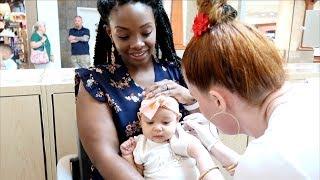 BABY GETS HER EARS PIERCED!!