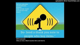 Silent Auction Do's And Don'ts