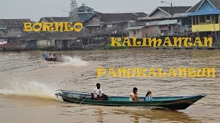 preview picture of video 'Wonderful Indonesia. Doprava v Pangkalan Bun - traffic on the river'