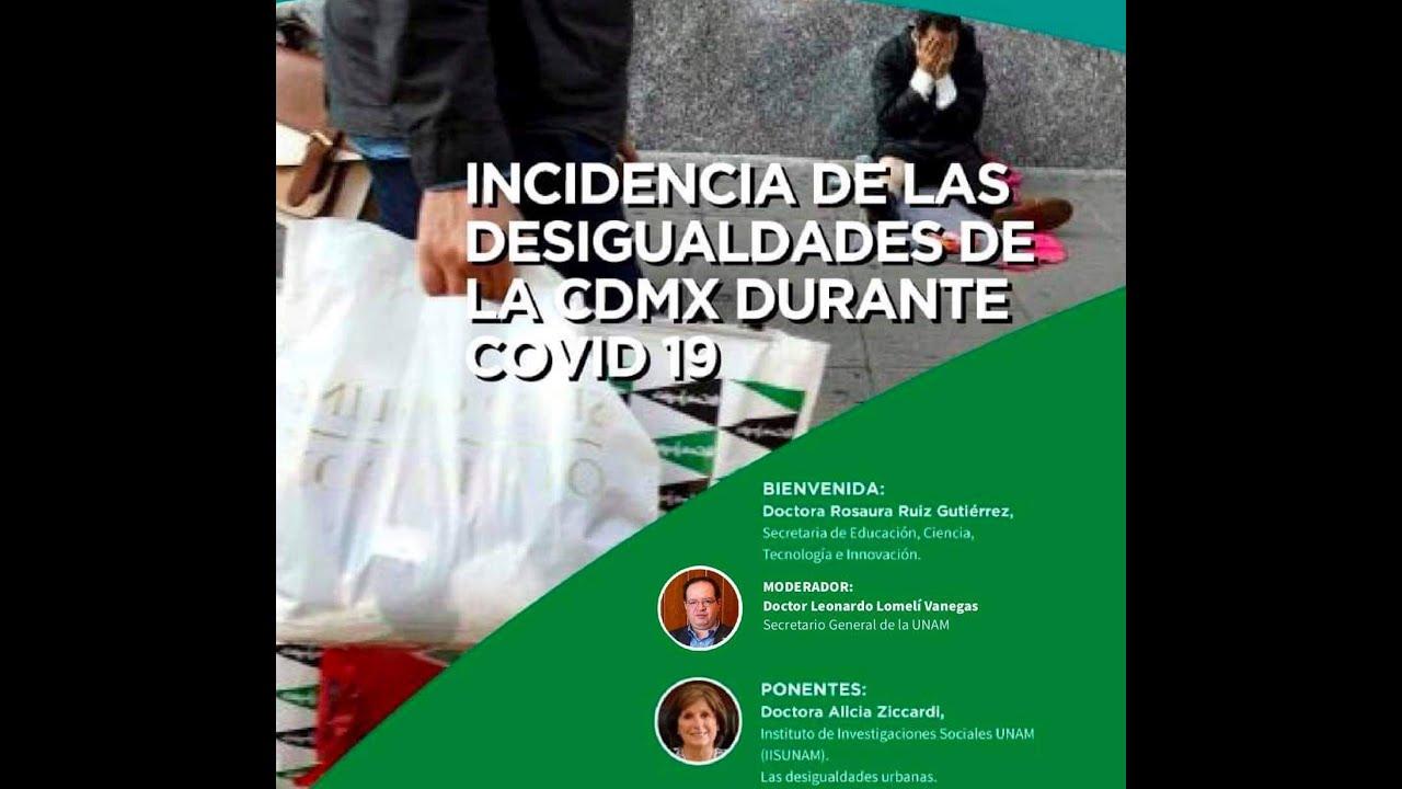 Incidencias de las desigualdades de la CDMX durante COVID-19