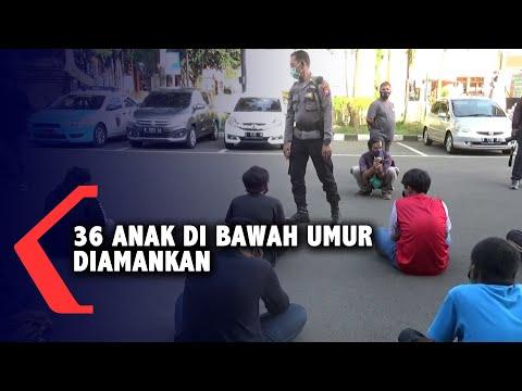 polisi lakukan sweeping anak di bawah umur diamankan karena hendak ikut demonstrasi