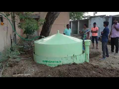 Portable Biogas Plant, Plant Capacity 50kg/Day