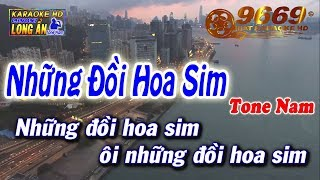 Karaoke Những Đồi Hoa Sim   Tone Nam Beat Chuẩn   Nhạc Sống LA STUDIO   Karaoke 9669