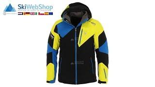 Spyder, Leader, ski-jas, heren, zwart/acid geel/sea blauw