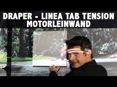 Wohnzimmer Leinwand Draper Euroscreen Linea ReAct 2.1 im Test Motorleinwand  3.0