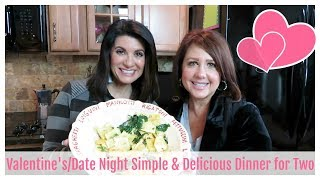 Valentine's/Date Night Simple & Delicious Dinner for Two| The2Orchids