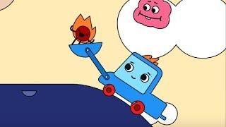 Мультфильм про машинки -  Грузовичок Пик - Раскраска - Веселый огонек -  учим цвета