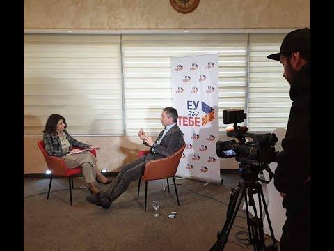 Nicola Bertolini, head of cooperation at the EU Delegation, discusses EU assistance in a TV interview