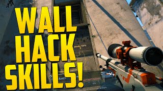 WALL HACK SKILLS! - CS GO Funny Moments in Competitive