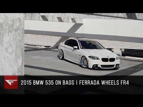 2015 BMW 550 bagged | Ferrada FR4 Machine Silver / Chrome Lip
