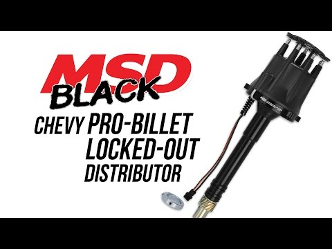 MSD Black Chevy Pro-Billet Locked-Out Distributor