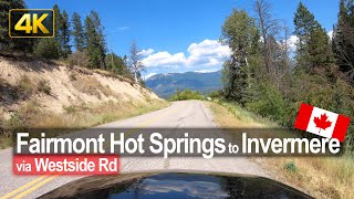 Backroad Drive from Fairmont Hot Springs to Invermere in British Columbia 🇨🇦