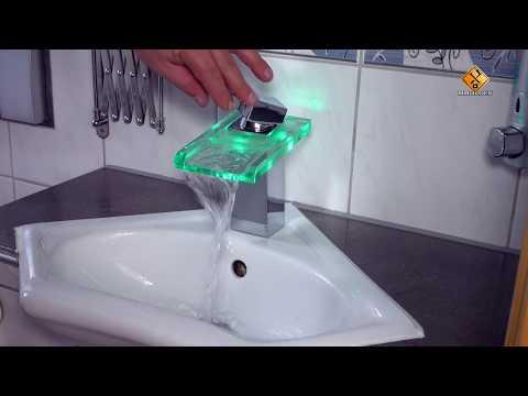 How to Install A Single Lever Basin Mixer Easily - Auralum LED Glass Faucet Waterfall Washbasin Mixe