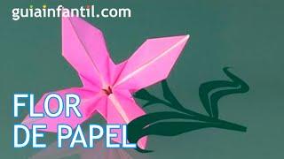 Cómo hacer una flor de papel, origami