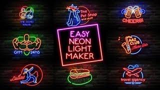 Как сделать неоновый текст как у Мармока Easy Neon Lights Maker folder (project After Efects)