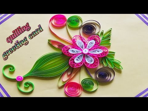 Paper art quilling designs on cards how to make a beautiful paper art quilling designs on cards how to make a beautiful greeting card m4hsunfo