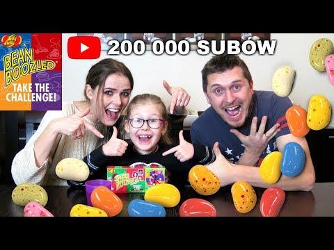 200 000 SUBSKRYPCJI - Bean Boozled Challenge z Rodzicami :)