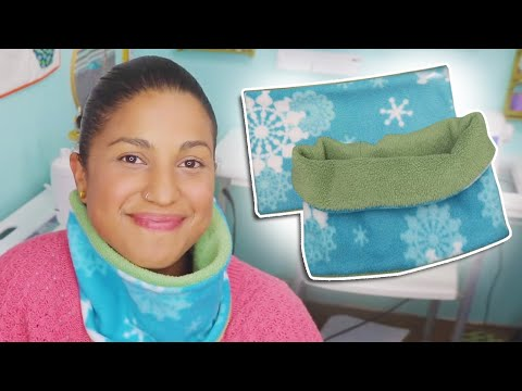 How to Sew a Fleece Neck Warmer with Crafty Gemini