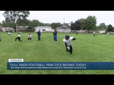 Full pads football practice begins Thursday