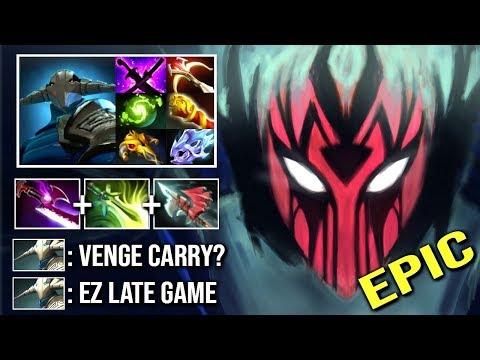 EPIC Shit Carry Vengeful vs Hard Sven Crazy Teamwork Over 9k Rampage Gameplay WTF Dota 2