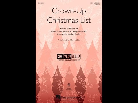 Grown-Up Christmas List