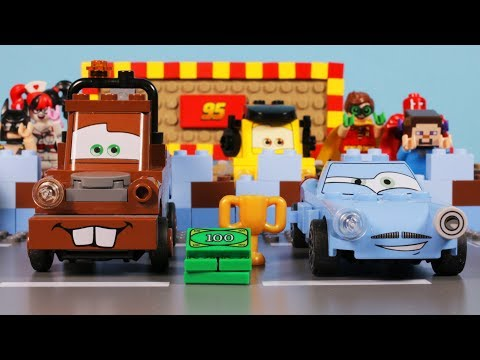 Lego Disney Cars - Mater's Backwards Driving & Lightning McQueen Vs Finn McMissile
