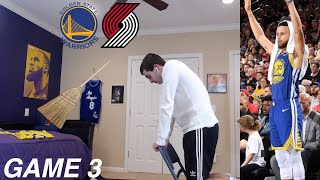 WARRIORS HATER REACTS TO STEPH DROPPING 36 AND WARRIORS TAKING 3-0 LEAD VS BLAZERS...