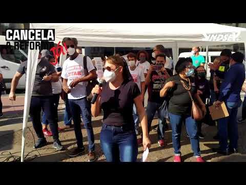 Servidores vão às ruas para pedir reajuste já e cancelamento da Reforma Administrativa (PEC 32)