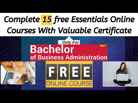 Free online Courses with certificate for BBA (Bachelor Of Business ...