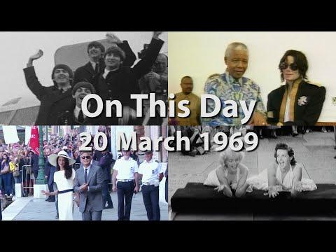 On the 20 March 1969, Beatle John Lennon married artist Yoko Ono. (March 20)