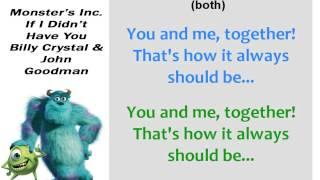 If I Didn't Have You (John Goodman & Billy Crystal) Karaoke
