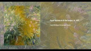 Flute Sonata in B flat major, H. 552