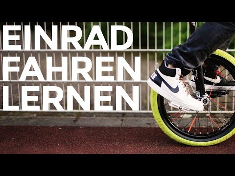 Einrad Fahren Lernen | Learning to ride a Unicycle | Tutorial | RideOne Unicycling
