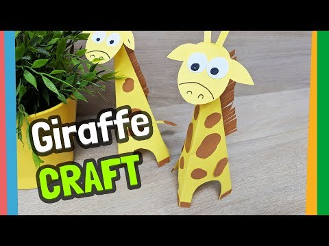 Paper Giraffe easy craft for kids with Reny