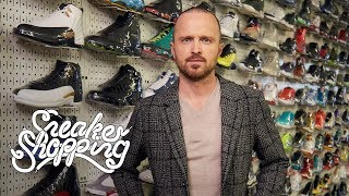 Breaking Bad's Aaron Paul goes Sneaker Shopping and talks about his character Jesse Pinkman's style on the movie, El Camino, Walter White's Clarks Wallabees, and his off-beat personal style.  Buy your ComplexCon tickets here: https://www.complexcon.com  Get your Sneaker Shopping merch here: https://shop.complex.com/   Subscribe to Complex on YouTube: https://www.youtube.com/channel/UCE_--R1P5-kfBzHTca0dsnw?sub_confirmation=1  Check out more of Complex here: http://www.complex.com https://twitter.com/Complex https://www.facebook.com/complex http://instagram.com/complex https://plus.google.com/+complex/  COMPLEX is a community of creators and curators, armed with the Internet, committed to surfacing and sharing the voices and conversations that define our new America. Our videos exemplify convergence culture, exploring topics that include music, sneakers, style, sports and pop culture through original shows and Complex News segments. Featuring your favorite celebrities, authoritative commentary, and a unique voice, our videos make culture pop.