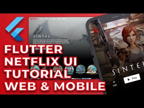 Flutter Netflix Clone Responsive UI Tutorial | Web and Mobile