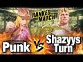 スト5 パンク vs 猛者コーディ Punk Lucia vs Shazyys Turn Cody SFV