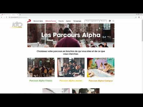 Le site web des Parcours Alpha